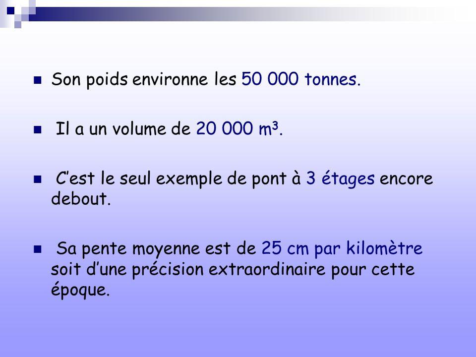 Son poids environne les 50 000 tonnes.