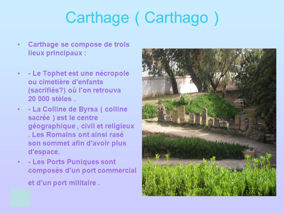Carthage ( Carthago ) Carthage se compose de trois lieux principaux :