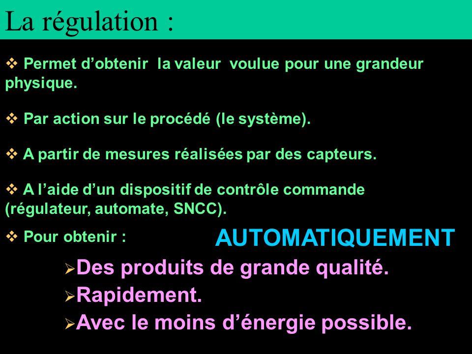 La régulation : AUTOMATIQUEMENT
