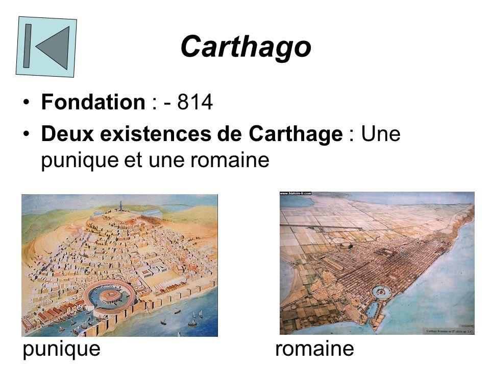 Carthago Fondation : - 814. Deux existences de Carthage : Une punique et une romaine.