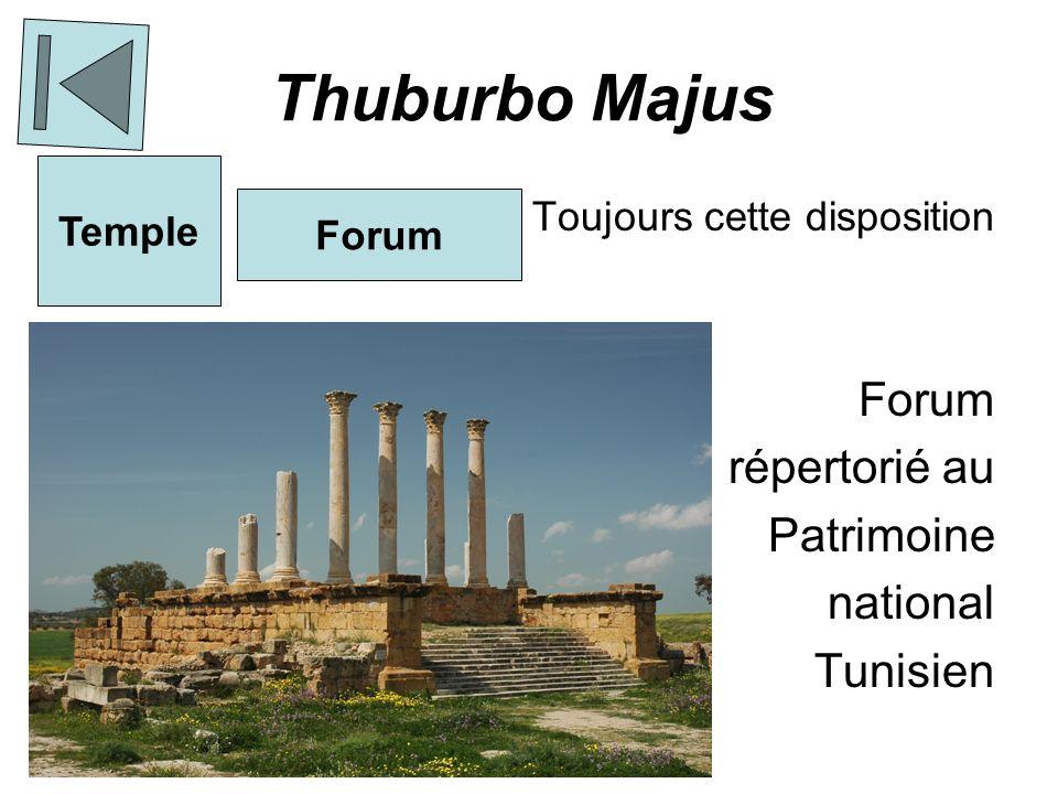 Thuburbo Majus répertorié au Patrimoine national Tunisien Temple