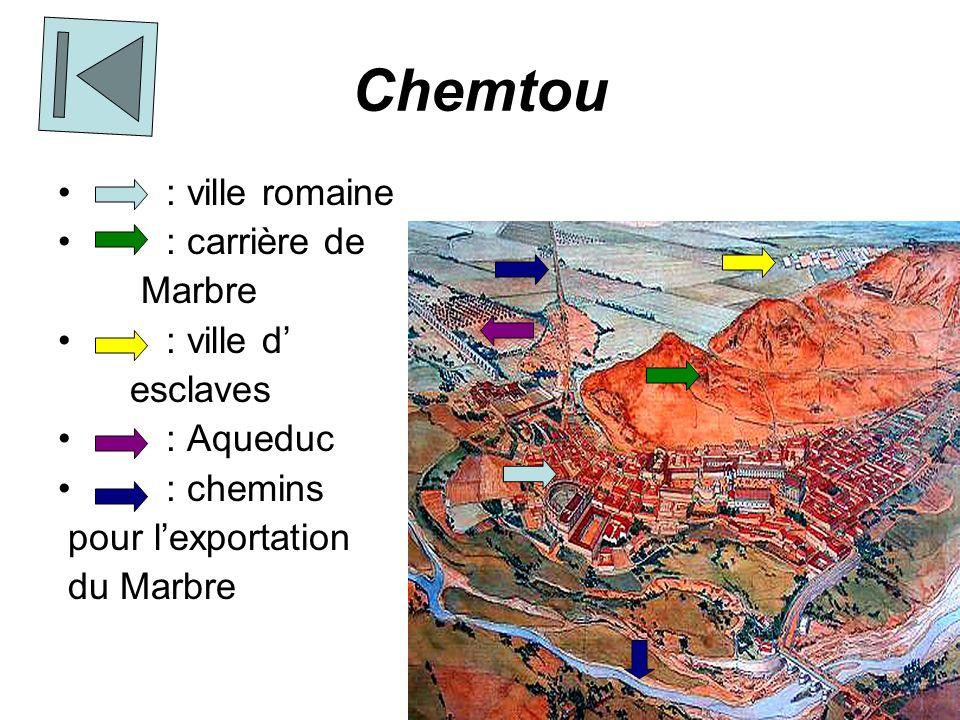 Chemtou : ville romaine : carrière de Marbre : ville d' esclaves
