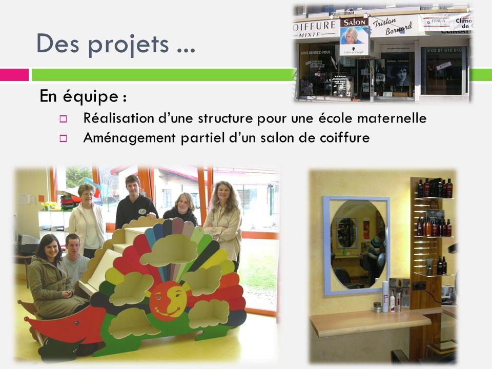 Des projets ... En équipe : Réalisation d'une structure pour une école maternelle.