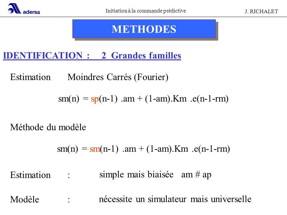 METHODES IDENTIFICATION : 2 Grandes familles