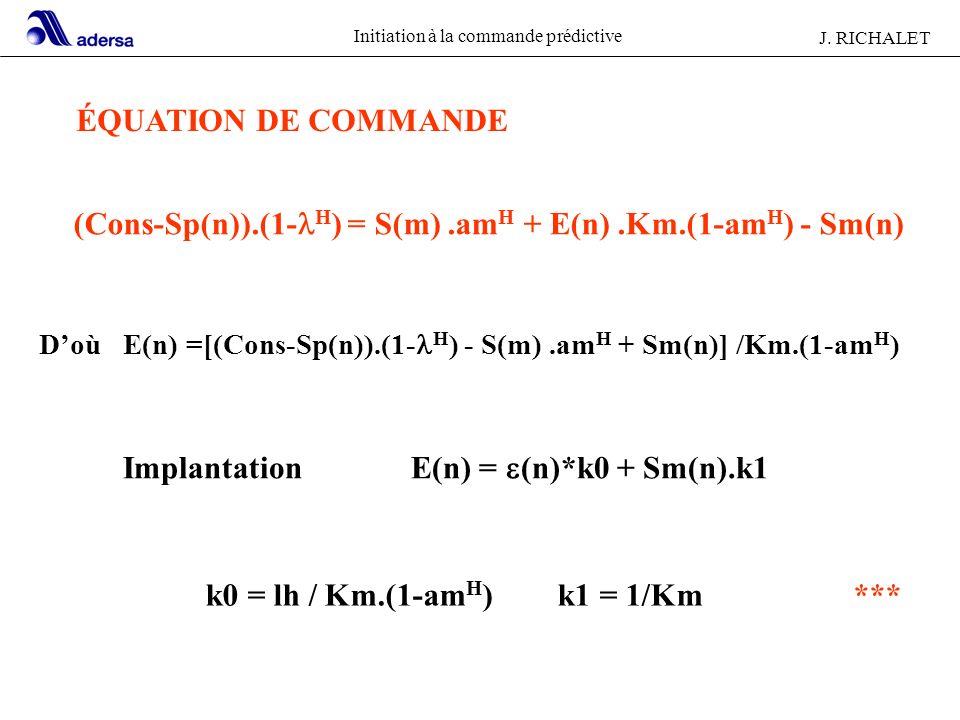 (Cons-Sp(n)).(1-lH) = S(m) .amH + E(n) .Km.(1-amH) - Sm(n)