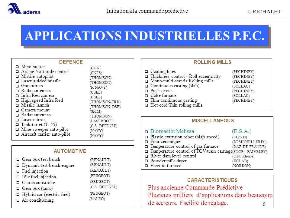APPLICATIONS INDUSTRIELLES P.F.C.