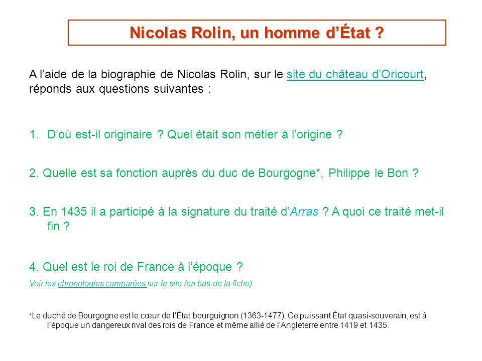 Nicolas Rolin, un homme d'État