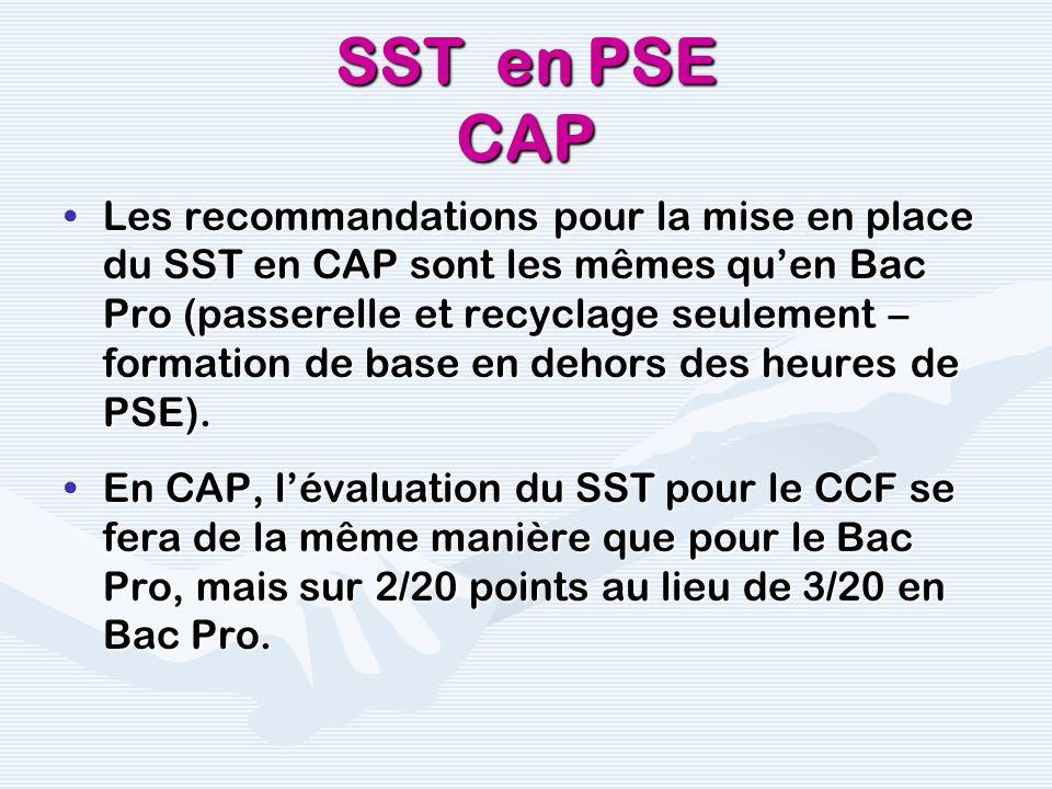 SST en PSE CAP
