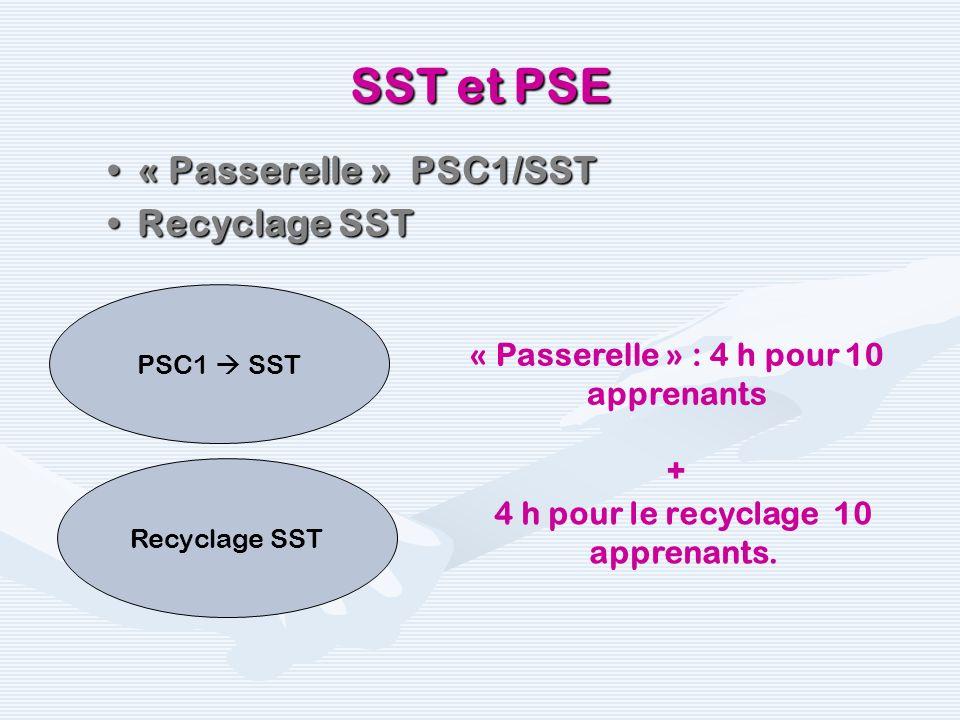 SST et PSE « Passerelle » PSC1/SST Recyclage SST
