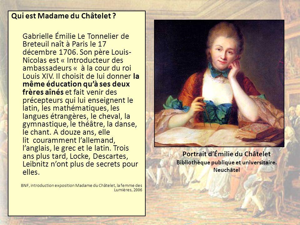 Qui est Madame du Châtelet