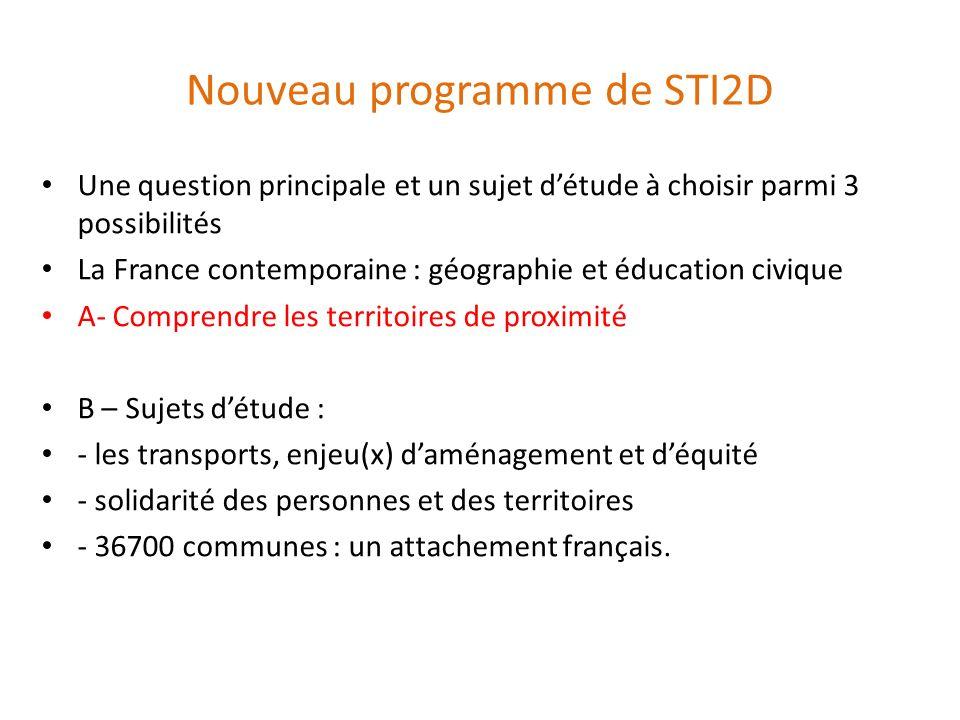 Nouveau programme de STI2D