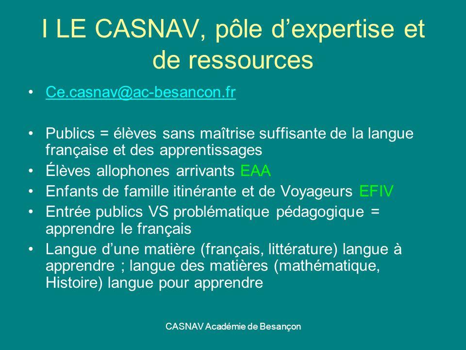 I LE CASNAV, pôle d'expertise et de ressources