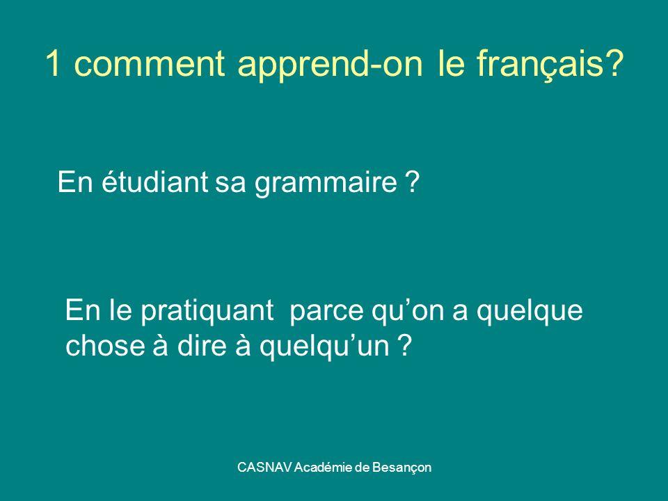 1 comment apprend-on le français