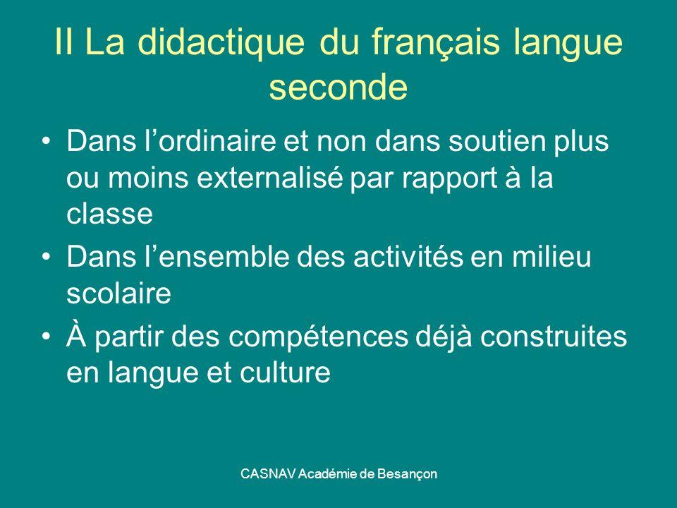 II La didactique du français langue seconde