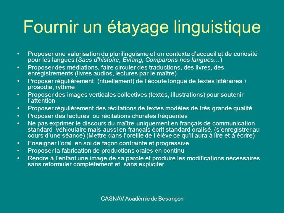 Fournir un étayage linguistique