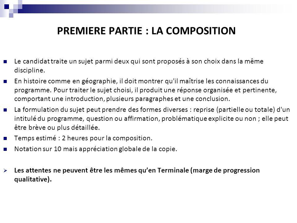 PREMIERE PARTIE : LA COMPOSITION