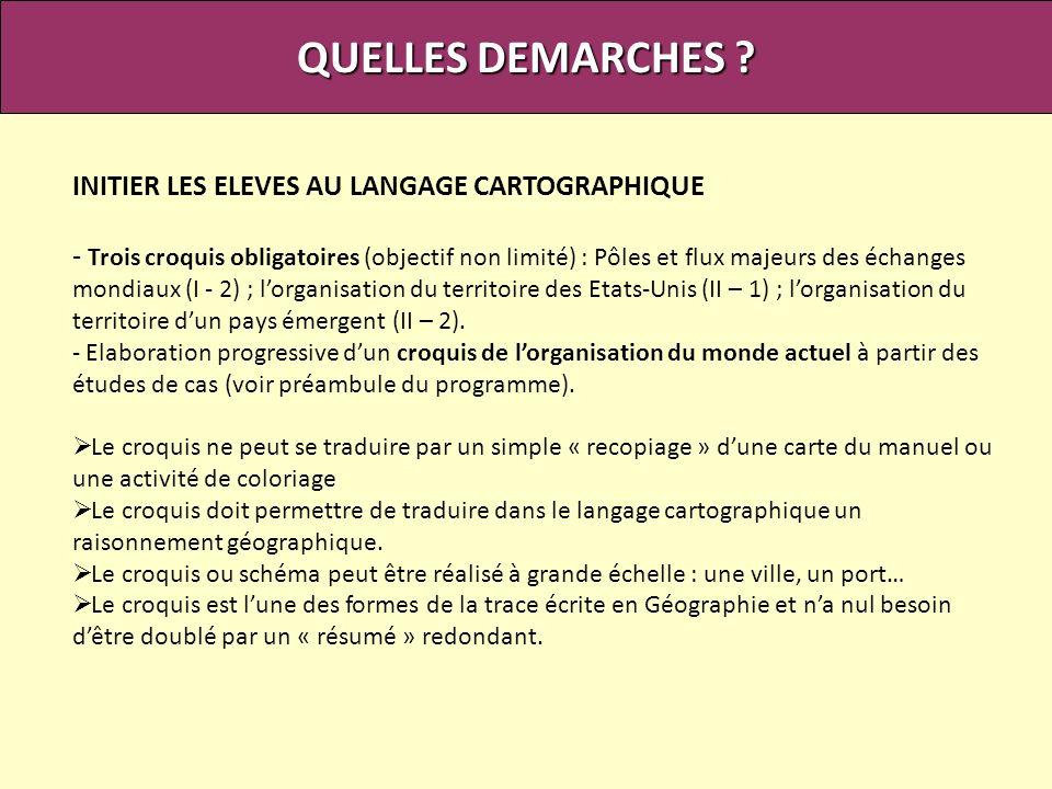 QUELLES DEMARCHES INITIER LES ELEVES AU LANGAGE CARTOGRAPHIQUE