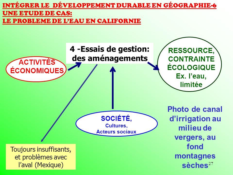 4 -Essais de gestion: des aménagements