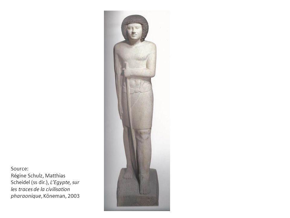 Source: Régine Schulz, Matthias Scheidel (ss dir.), L'Egypte, sur les traces de la civilisation pharaonique, Köneman, 2003.