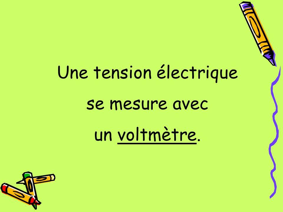 Une tension électrique