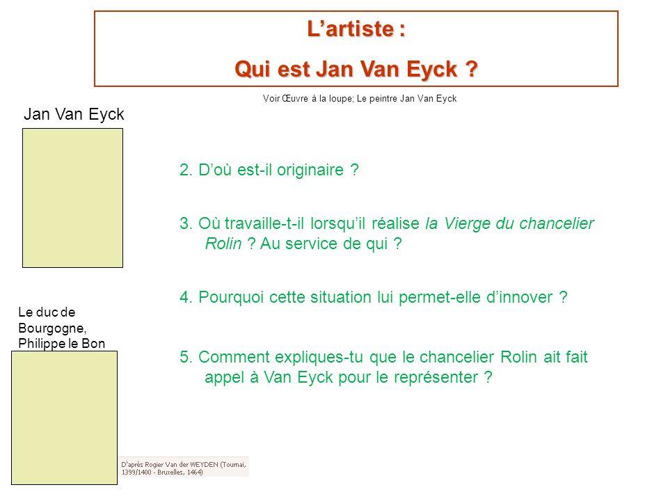 L'artiste : Qui est Jan Van Eyck