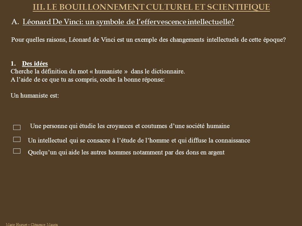 III. LE BOUILLONNEMENT CULTUREL ET SCIENTIFIQUE