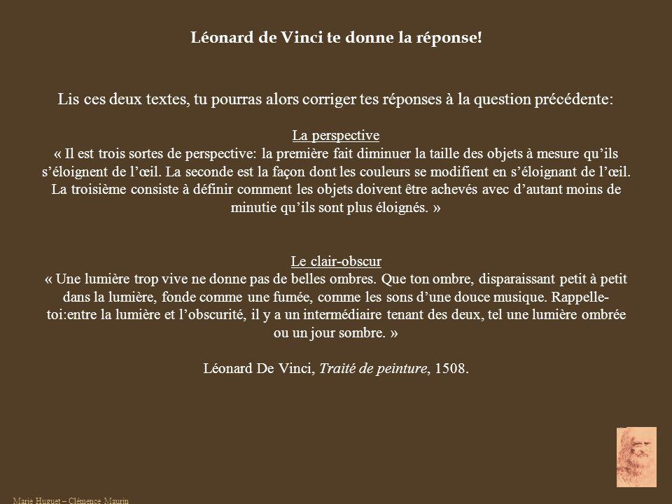 Léonard de Vinci te donne la réponse