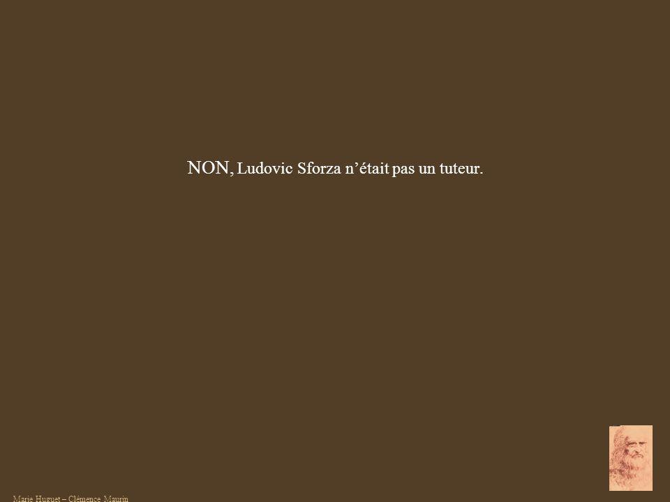 NON, Ludovic Sforza n'était pas un tuteur.