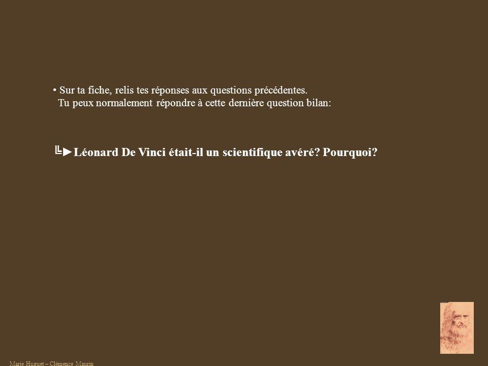 ╚►Léonard De Vinci était-il un scientifique avéré Pourquoi
