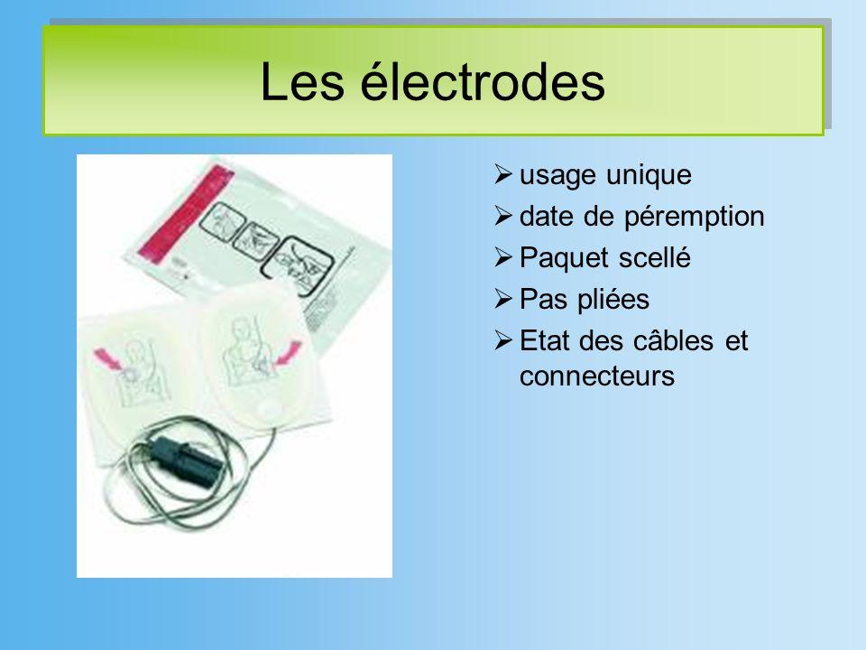 Les électrodes usage unique date de péremption Paquet scellé