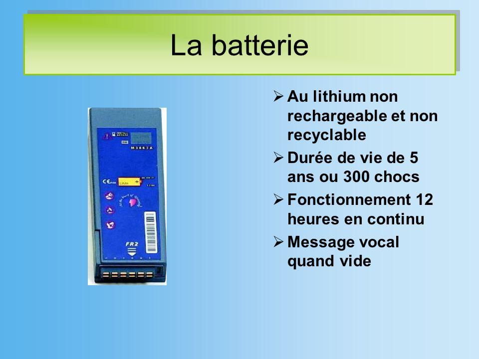 La batterie Au lithium non rechargeable et non recyclable