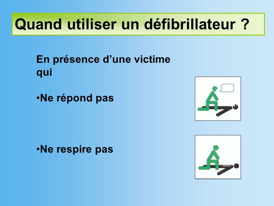 Quand utiliser un défibrillateur