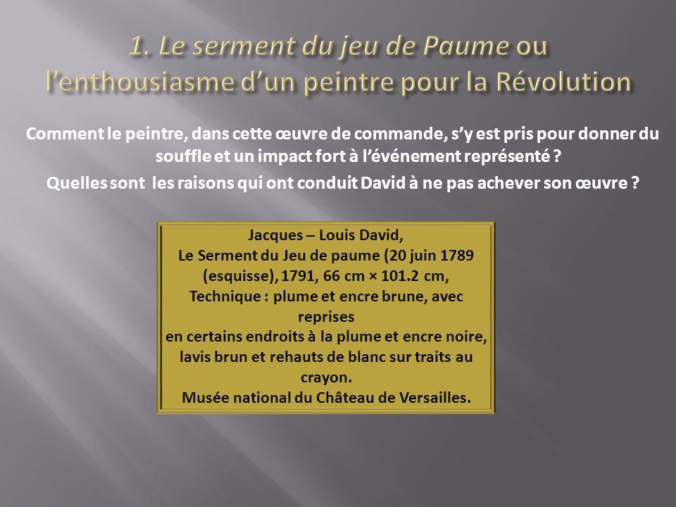1. Le serment du jeu de Paume ou l'enthousiasme d'un peintre pour la Révolution