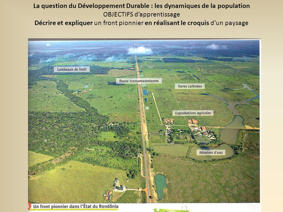 La question du Développement Durable : les dynamiques de la population