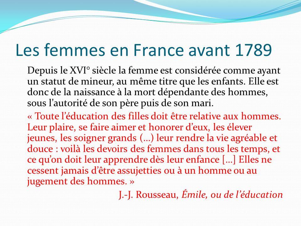 Les femmes en France avant 1789