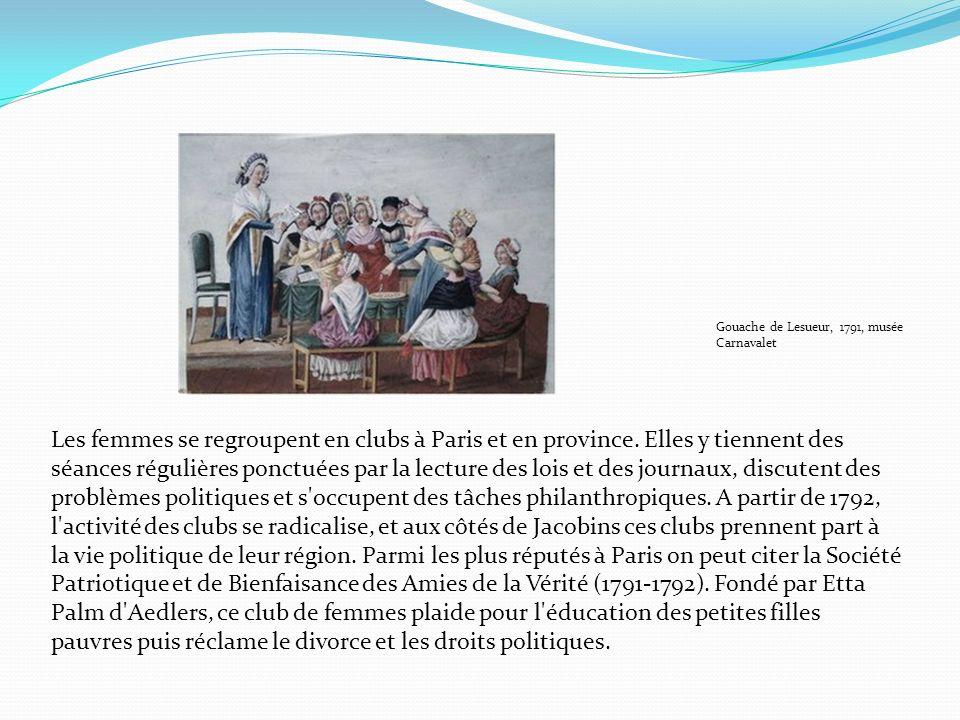 Gouache de Lesueur, 1791, musée Carnavalet