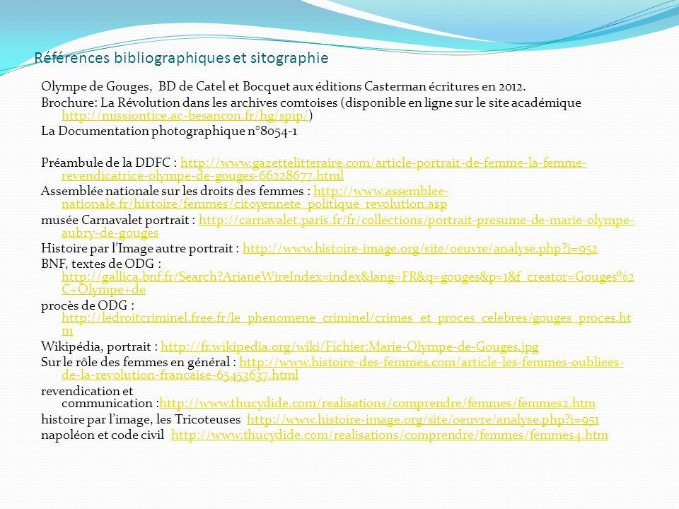 Références bibliographiques et sitographie