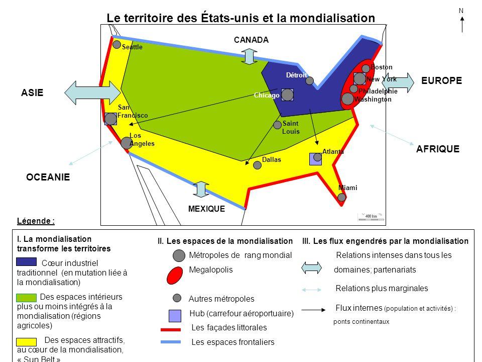 Le territoire des États-unis et la mondialisation
