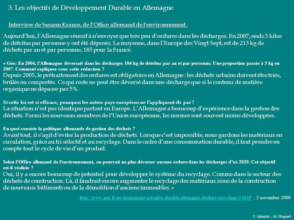 3. Les objectifs de Développement Durable en Allemagne