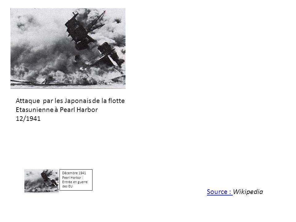 Attaque par les Japonais de la flotte Etasunienne à Pearl Harbor