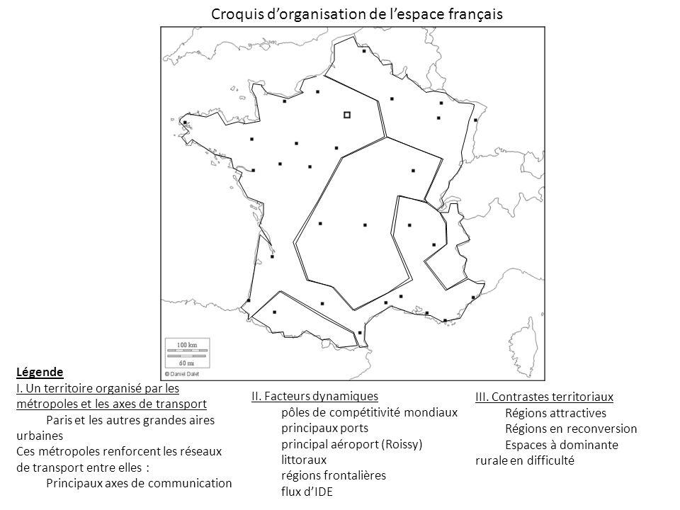 Croquis d'organisation de l'espace français