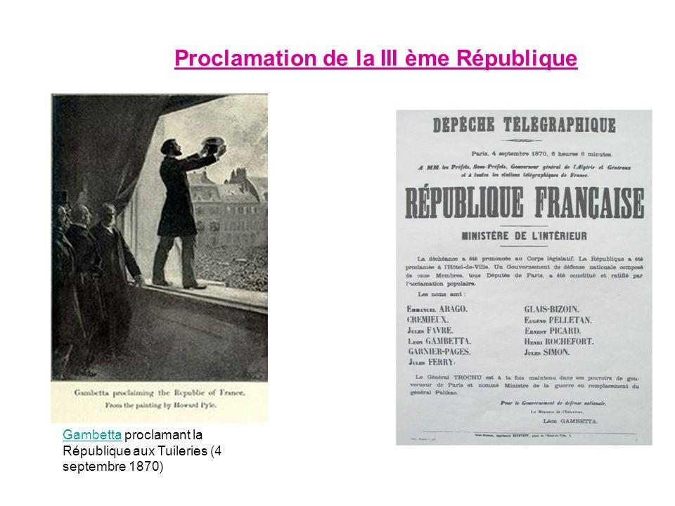 Proclamation de la III ème République