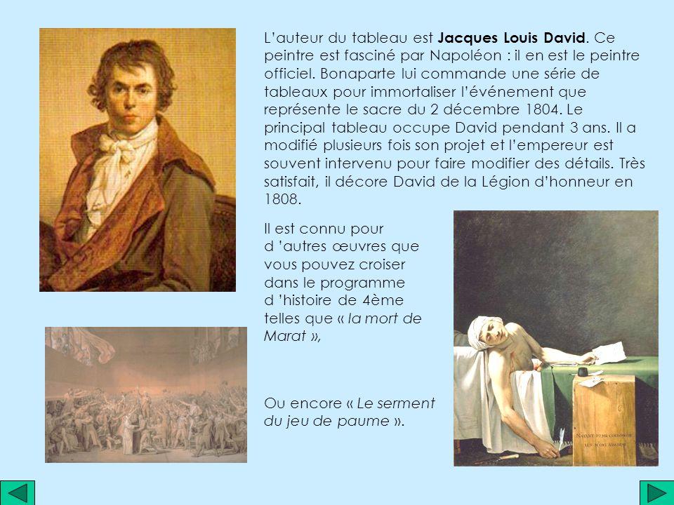 L'auteur du tableau est Jacques Louis David