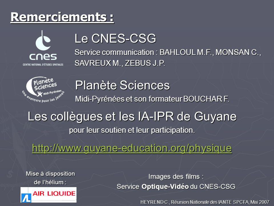 Les collègues et les IA-IPR de Guyane