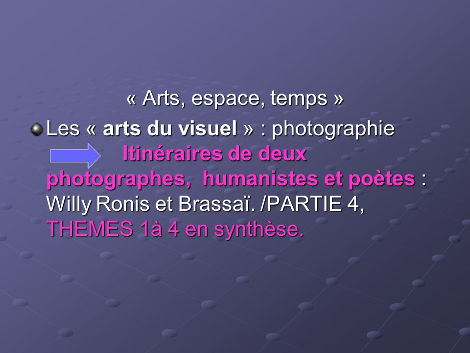 « Arts, espace, temps »