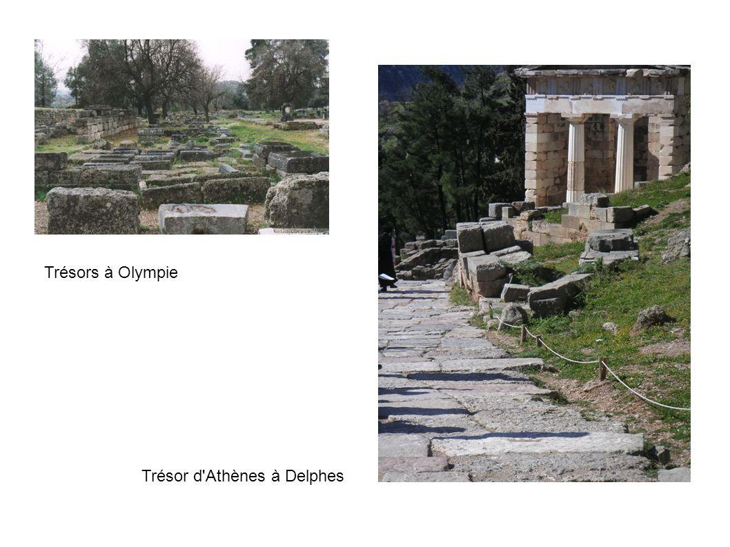 Trésors à Olympie Trésor d Athènes à Delphes