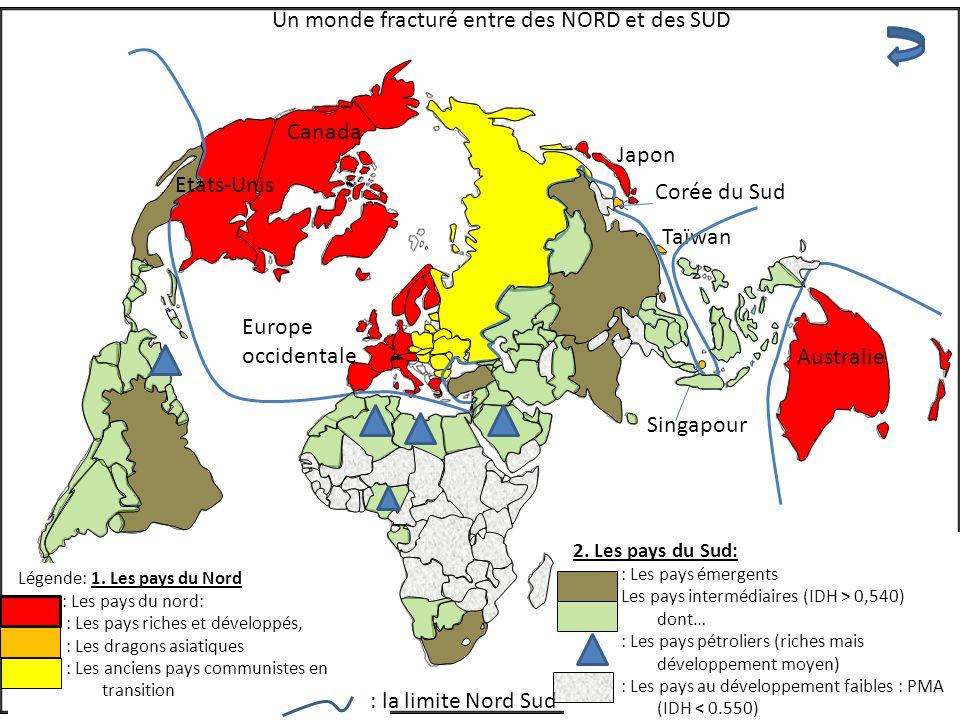 Un monde fracturé entre des NORD et des SUD