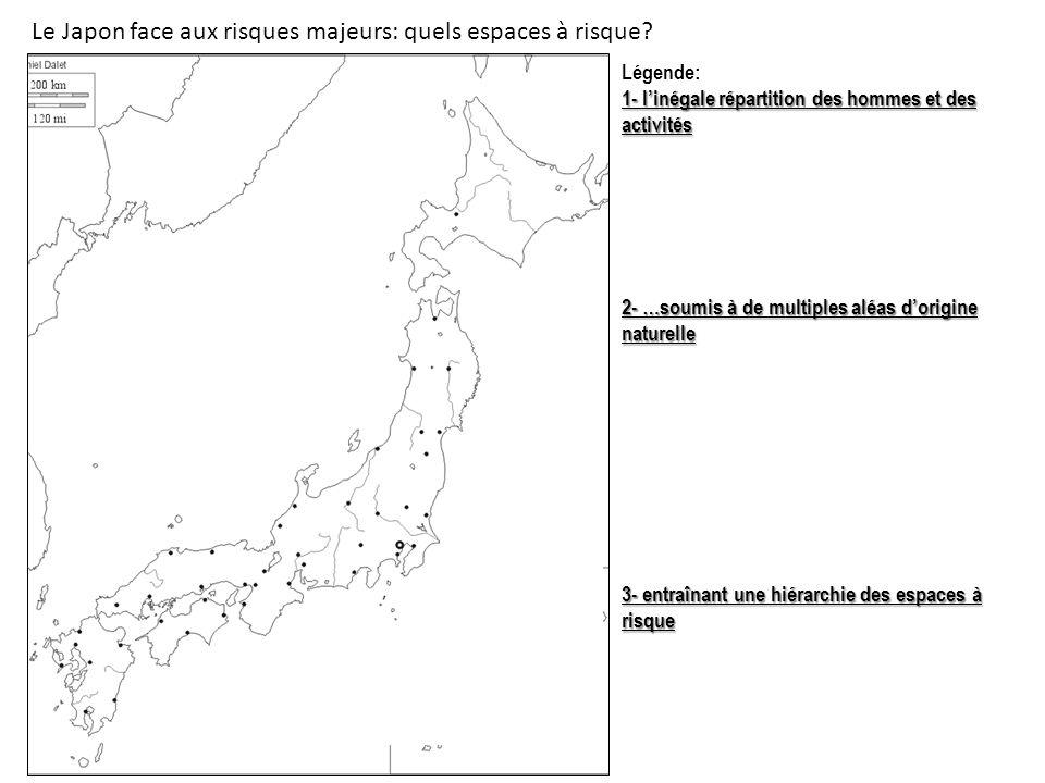 Le Japon face aux risques majeurs: quels espaces à risque