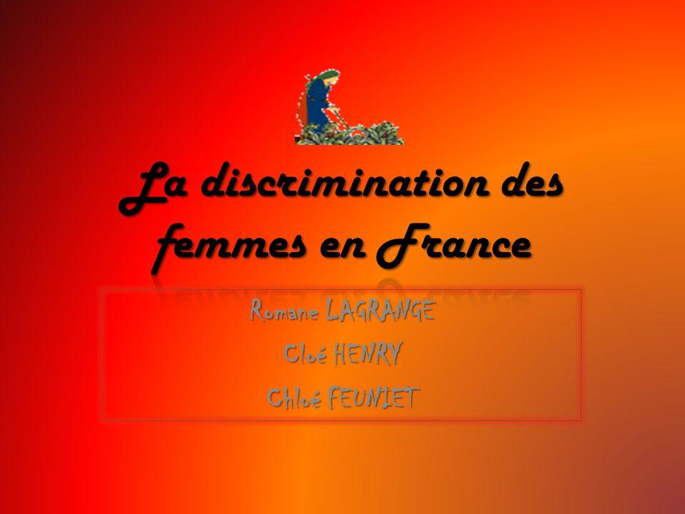La discrimination des femmes en France