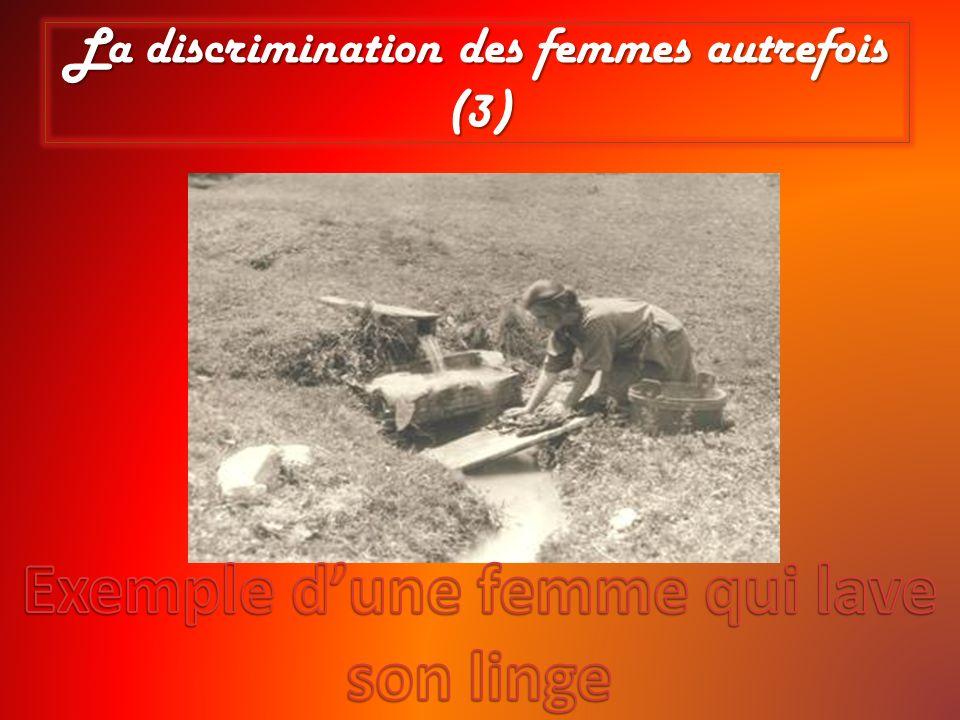 La discrimination des femmes autrefois (3)